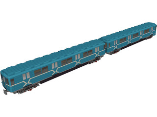 Underground Moscow Train 3D Model