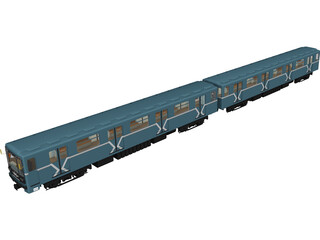 Underground Train Model 817MV 3D Model