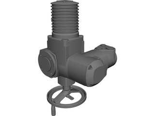 Auma Norm SE Actuator CAD 3D Model