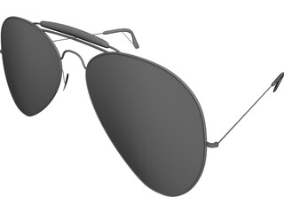 Rayban Sunglasses 3D Model 3D Preview