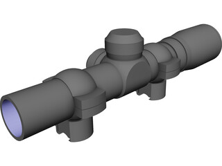 Barska AC10842 Rifle Scope CAD 3D Model