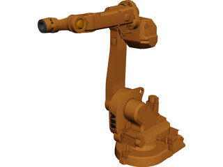ABB IRB 1600ID 6-axis Robot CAD 3D Model