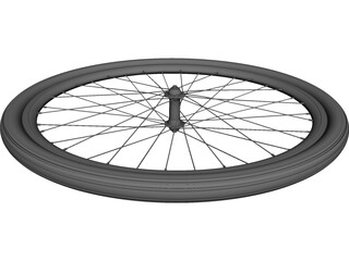 Front Wheel Bicycle 28 CAD 3D Model