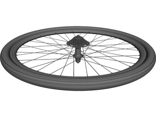 Wheel Rear Bicycle 28 CAD 3D Model