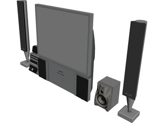 Toshiba Television 3D Model