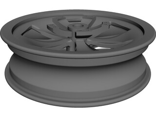 Motorcycle 17inch Front Rim CAD 3D Model