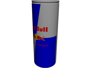 Red Bull Can CAD 3D Model