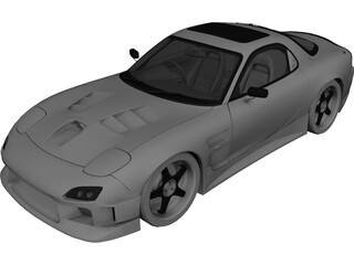Mazda RX-7 FD3S Tuned 3D Model 3D Preview
