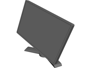 Dell 2408WFP Monitor CAD 3D Model