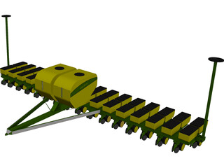 John Deere Corn Planter 3D Model