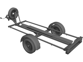 Motorcycle Trailer CAD 3D Model