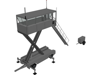 Mobile Air Traffic Control 3D Model