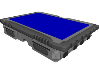 Tectra Getac v100 Laptop CAD 3D Model