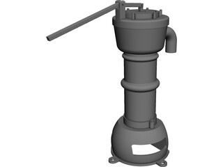 Water Hand Pump CAD 3D Model