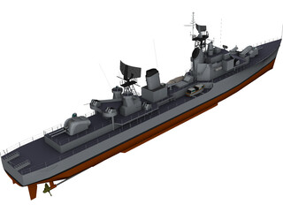 Destroyer Friesland (1958) 3D Model