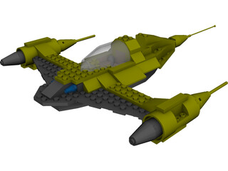 LEGO Naboo Starfighter N1 3D Model