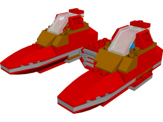LEGO Twin Pod Cloud Car 3D Model