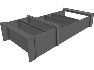 Bookcase CAD 3D Model