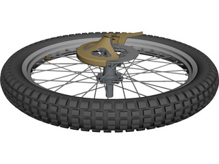 Wheel Bike Front CAD 3D Model