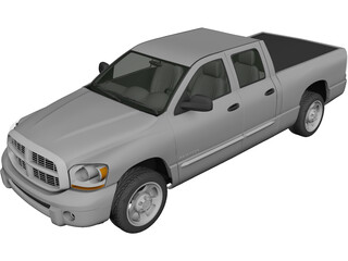 Dodge Ram Crew Cab 1500 (2007) 3D Model