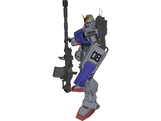 Gundam Ground Type 3D Model