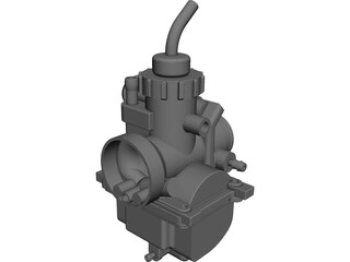 Carburetor Yamaha DT LC CAD 3D Model