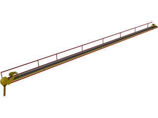 Grain Conveyor Belt 3D Model
