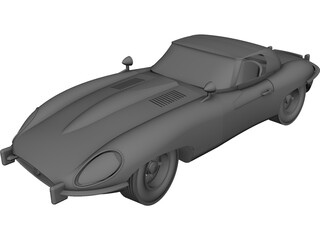 Jaguar E-Type (1960) CAD 3D Model