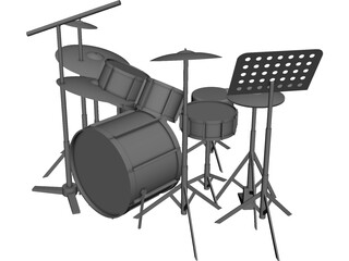 Drum Kit CAD 3D Model