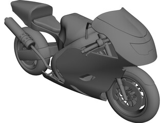 Honda CBR600RR Sport Bike CAD 3D Model