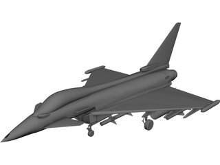Eurofighter 2000 CAD 3D Model