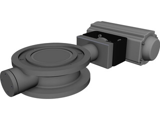 Butterfly Valve CAD 3D Model
