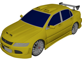 Mitsubishi Lancer Evo VII [Tuned] 3D Model
