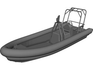 Offshore Rescue RIB CAD 3D Model