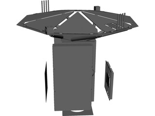 Satellite Deployed CAD 3D Model