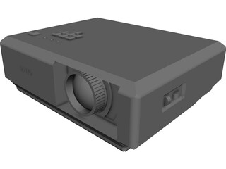 Sanyo Projector CAD 3D Model