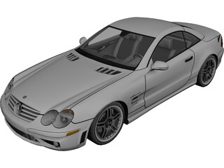 Mercedes-Benz SL65 AMG 3D Model