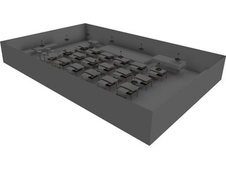 Elementary School Classroom 3D Model