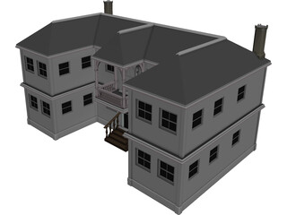 2-Story Vacation House 3D Model