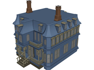 2-Story Victorian House 3D Model