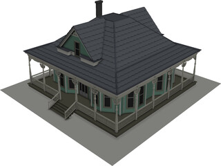 Antique House 3D Model