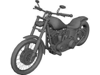 Harley-Davidson Dyna Glide 3D Model 3D Preview