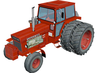 Volvo BM 800 Series Tractor 3D Model 3D Preview