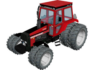 Volvo Valmet 2105 Tractor 3D Model 3D Preview