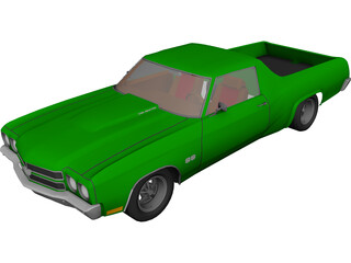 Chevrolet El Camino (1975) 3D Model 3D Preview