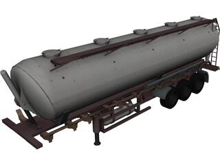 Tanker Trailer 3D Model 3D Preview
