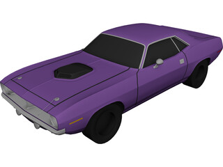 Plymouth Cuda 440 (1973) 3D Model