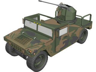 Hummer H1 Army 3D Model