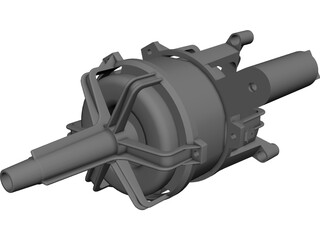 Electric Motor CAD 3D Model