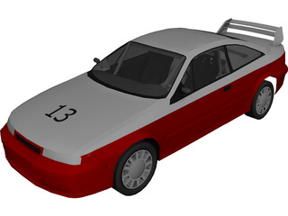 Opel Calibra Rally Car 3D Model